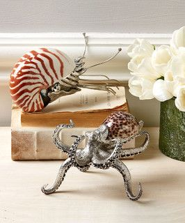 La Mer Shell Paperweight - Set of 2 - Transitional - Home Office Products - by Bliss Home & Design