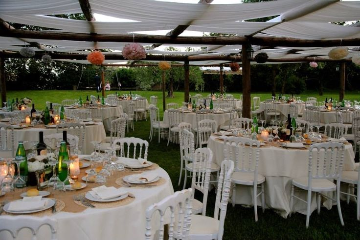 Outdoor Wedding Dinner @Zia Cathy's Country House & Location - Summer 2013 https://www.facebook.com/ZiaCathys