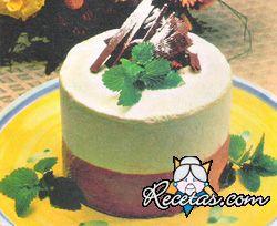 Cheesecake de  menta y chocolate
