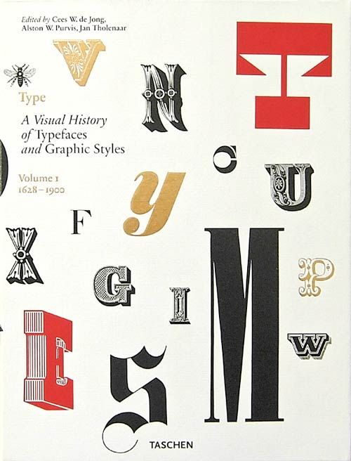 """Charming use of display type. Book cover for """"Type: A Visual History of Typefaces and Graphic Styles"""""""