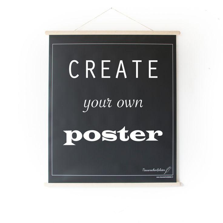 Schoolplaat Create your Own Poster Zwart/Wit 2-zijdig New { €25 }