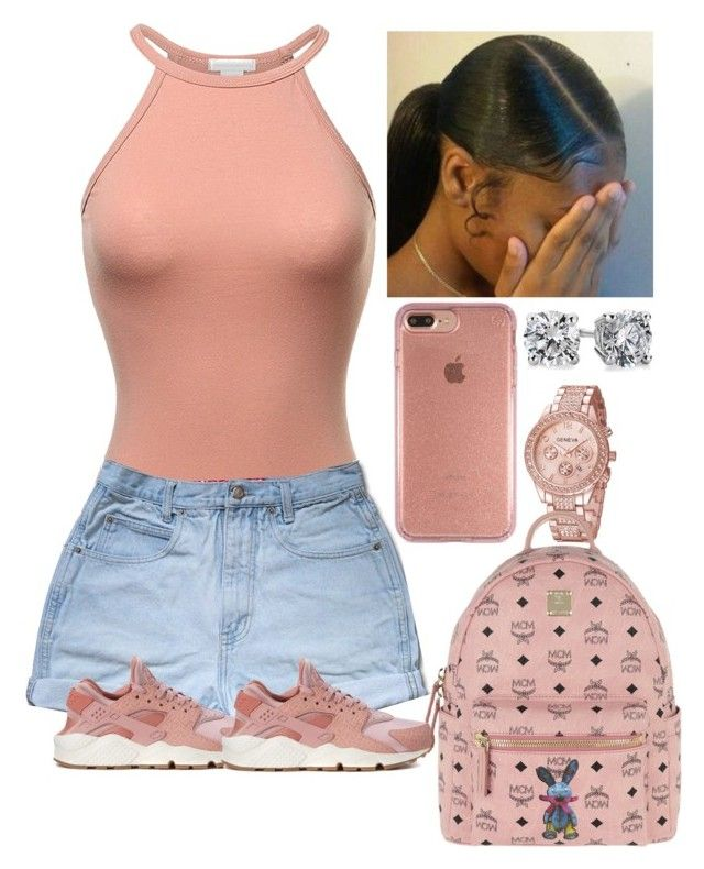 """""""Bodysuit(May16)"""" by amournyaa ❤ liked on Polyvore featuring Speck, NIKE, Blue Nile and MCM"""