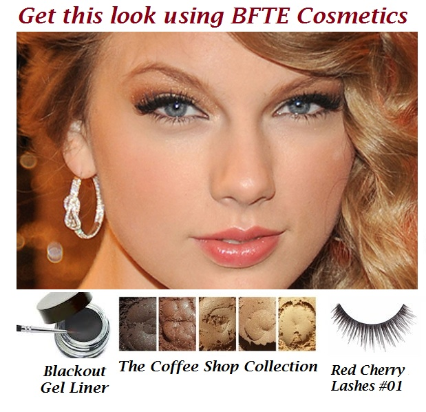 Copy Taylor Swift's eye makeup look  a few items from BFTE Cosmetics.