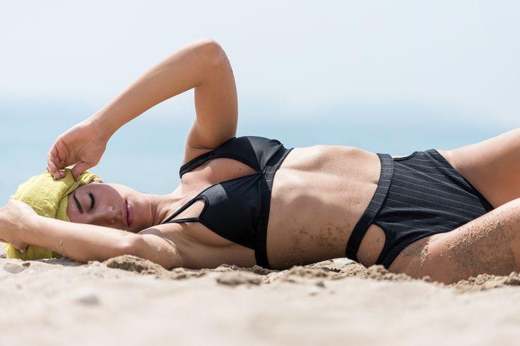 Swimwear , total black , by nadia rapti ,ss15