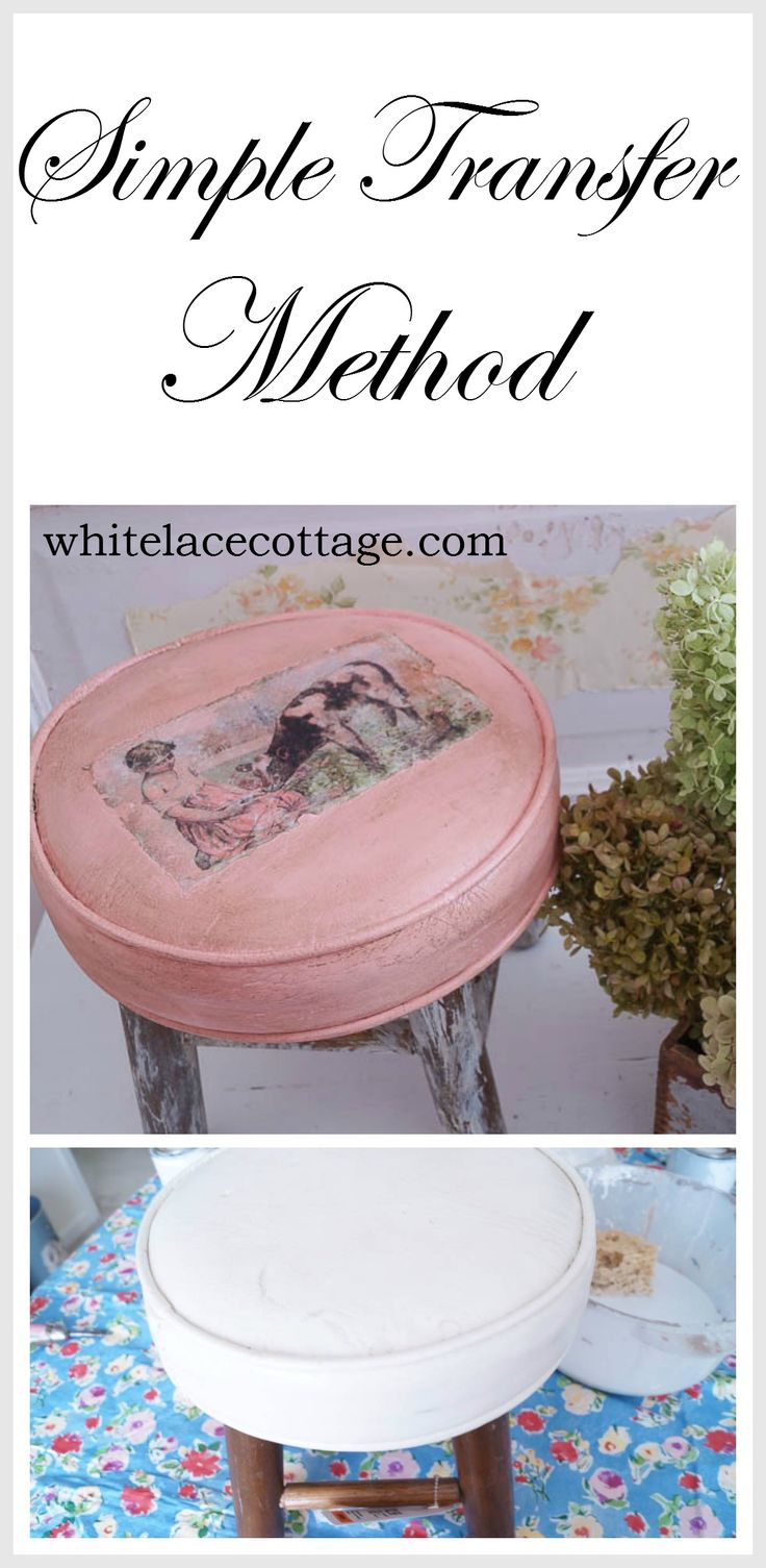 Here's a quick and easy way to update a thrifty find. We will be doing a very simple transfer method using 1 gel decoupage glue.