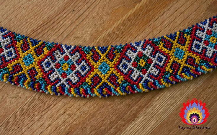 Here is a wonderful Ukrainian folk decoration on the neck - silyanka. This bright beaded collar. Made of Czech beads and metal accessories. Geometric pattern. Silyanki suitable for women and girls of all ages and can be dressed with Embroideries or any other clothing. This ornament will