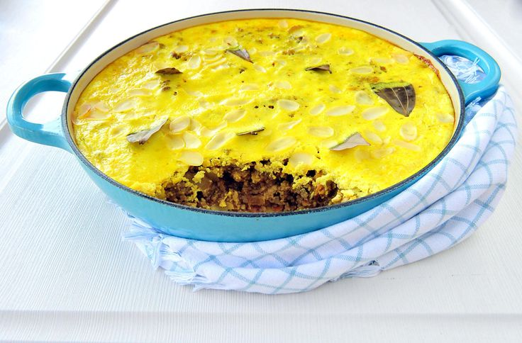 Bobotie consists of spiced minced meat baked with an egg-based topping. Of the many dishes common to South African bobotie is perhaps closest to being the national dish, because it isn't made in any other country.