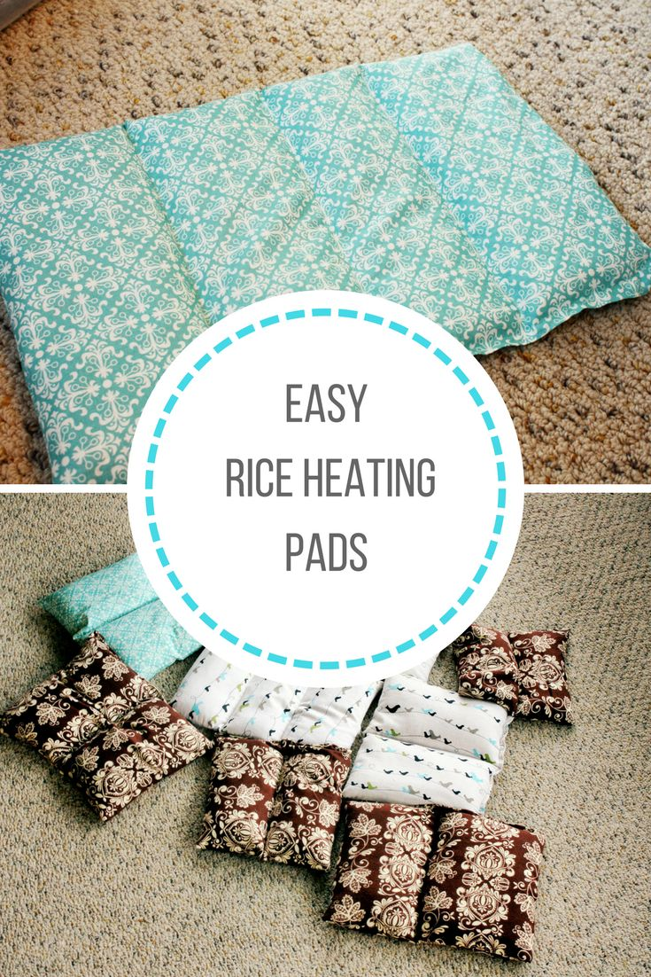 Easy tutorial for DIY rice heating pads that are perfect for any beginning sewer. These rice heating pads can be used hot or cold. via @https://www.pinterest.com/frugalbychoice/