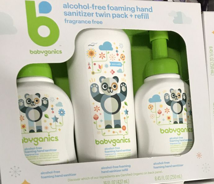 Babyganics Alcohol Free Hand Sanitizer 3 Pack Boxed Set 2 Foam