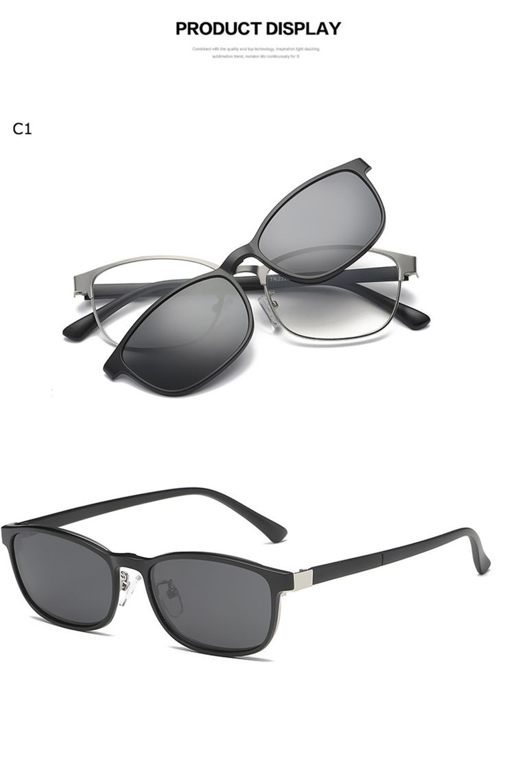 Clip On Sunglasses Magnetic Spectacle Frame Eyeglasses With Polarized Glasses Driving Optical #ClipOn #Magnet #Eyewear #Polarized #Driving #Lens #Eyeglasses #Sunglasses #Women #Man #cliponlens #cliponeyewear #Spectacle #Frame #Driving #Optical
