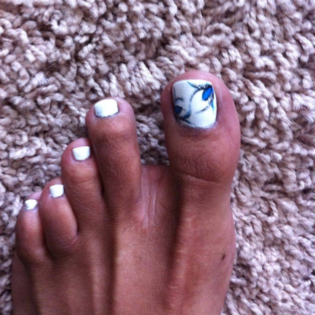7 best leanne villa nails frisco texas images on pinterest white toe nail with black and blue design prinsesfo Choice Image