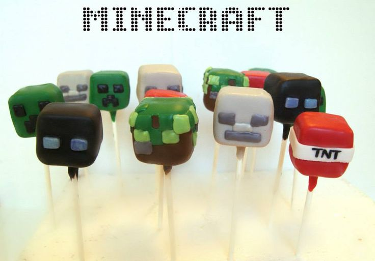 Minecraft Cakepops By Evie And Mallow Evie And Mallow