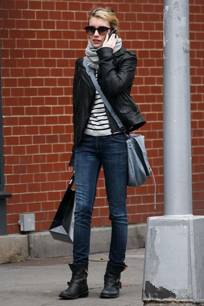 Emma Robert: I really like her fall style!! Layering is so fun and looks so good. :))