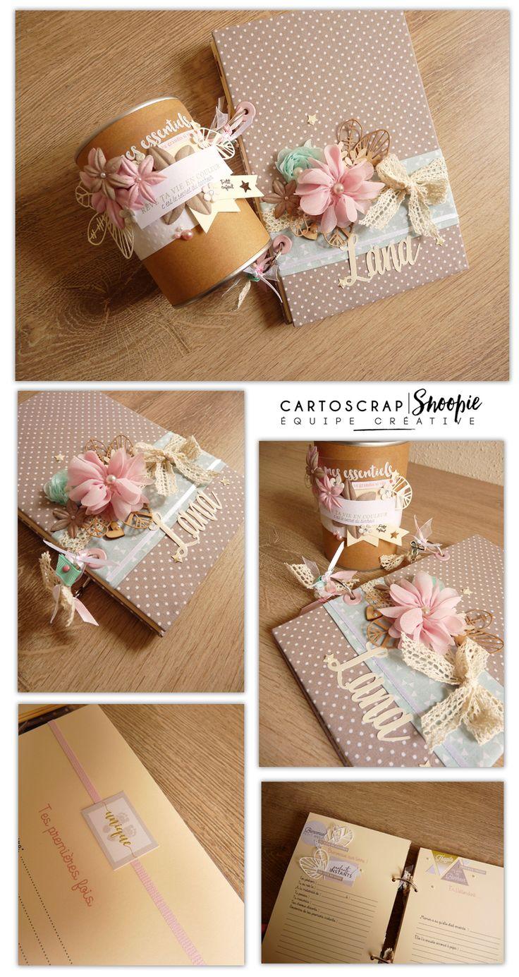 Sophie vous montre ses réalisations pour un nouveau né : livre de souvenirs, boîte décorée pour contenir les cadeaux. De quoi prendre de l'inspiration !