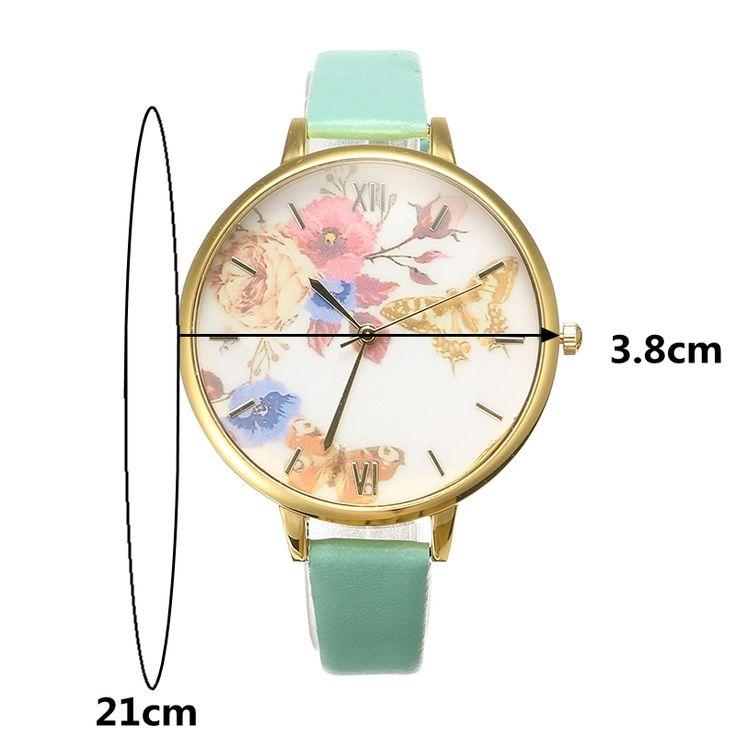 Women's Trendy Watch Flower Butterfly Leather Watch online - NewChic