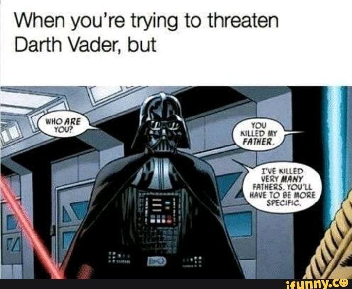 Star Wars Memes Darth Vader 1 Funny Star Wars Memes Star Wars Memes Star Wars Humor