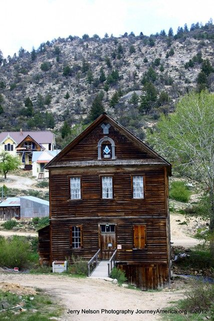 Abandoned Masonic Temple in the ghost town of Silver City, Idaho