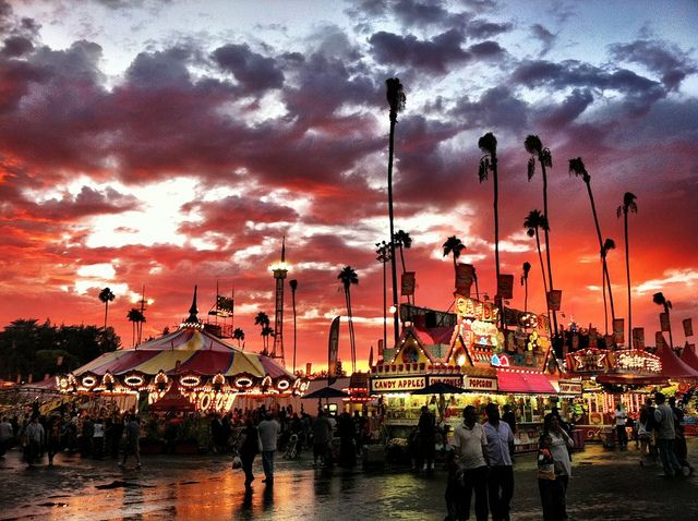 The LA County Fair takes place annually in September.  This photo was taken in 2011 http://www.lacountyfair.com/