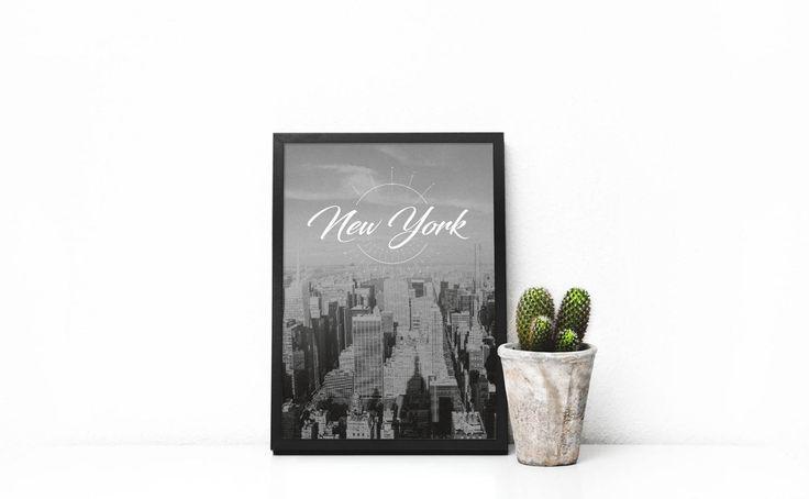 New York Skyline, New York Poster, New York Print, New York City, City Prints, City Art, Black And White Print, Travel Prints, Bedroom Decor by SilBarragan on Etsy