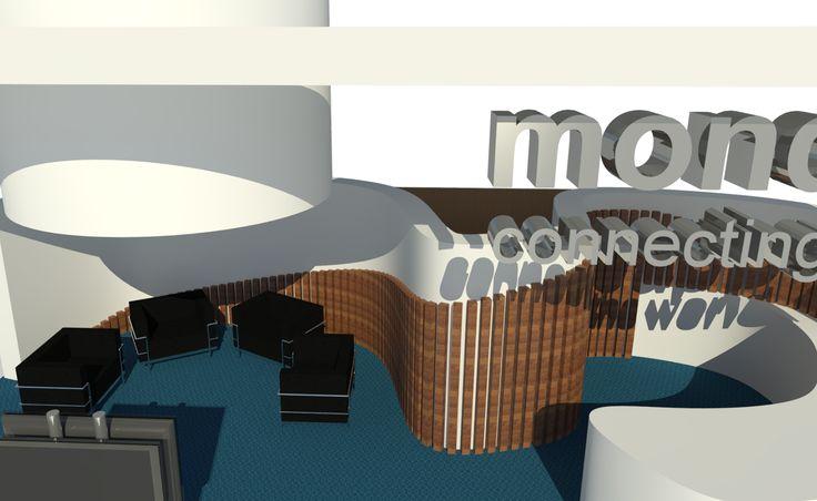 Stand Mondeapp- Fitur. QIDStudio Artur Fuster Architects