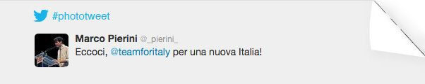 PHOTOTWEET #16  eccoci, #teamforitaly per una nuova Italia!