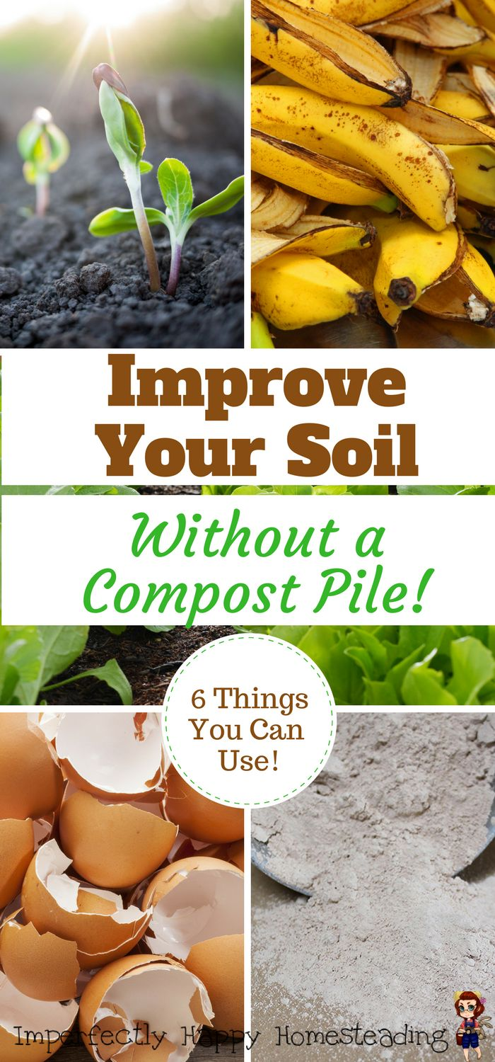 6 Things You can Use to Improve Your Soil Without a Compost Pile - for vegetable gardens, homesteads and hobby farms.