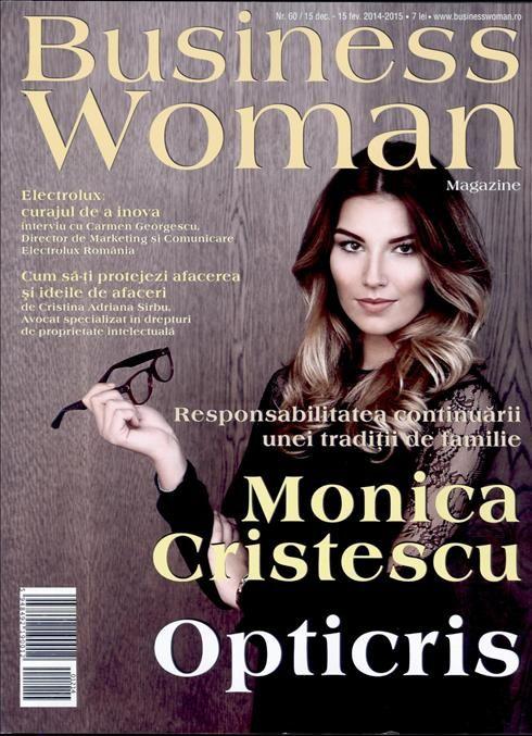 Continuarea traditiilor de familie este o responsablitate! Afla mai multe de la Monica Cristescu, in ultimul numar al revistei Business Woman.  Aboneaza-te gratuit la Titlurile Zilei si fii la curent cu prima pagina a ziarelor si revistelor din Romania acum: http://www.titlurile-zilei.ro/economie-business #familie #business