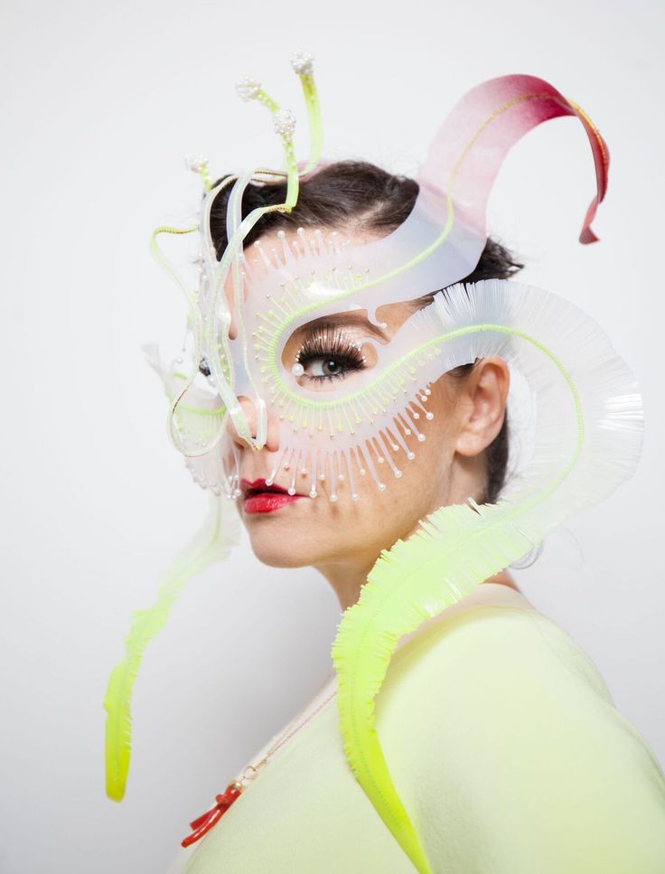 """James Merry—""""Ghost Orchid"""" headpiece for Björk"""