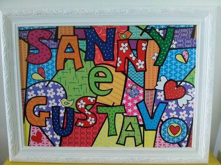 Quadro personalizado SANNY E GUSTAVO https://www.facebook.com/EstudioPrimavera/
