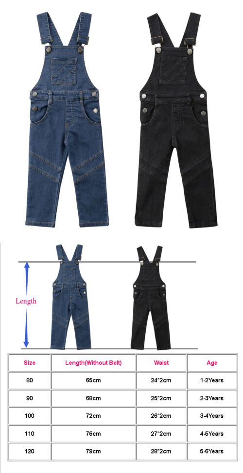 6f5faac2b0d1 Jeans 175658  Us Stock Baby Girl Toddler Trousers Kid Dungaree ...