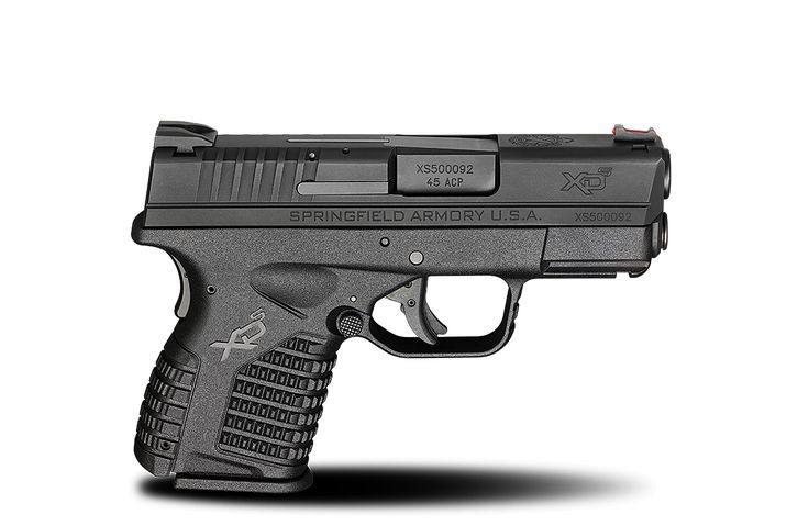 XD-S® 3.3″ Single Stack .45ACP caliber #pistol in Black from Springfield Armory® #firearm #handgun