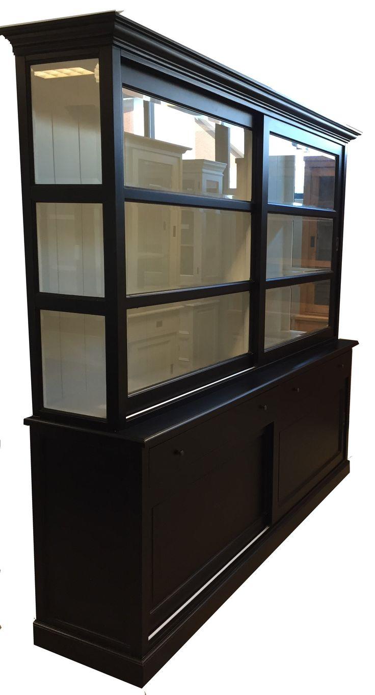 Buffetkast zwart Lisse 220cm