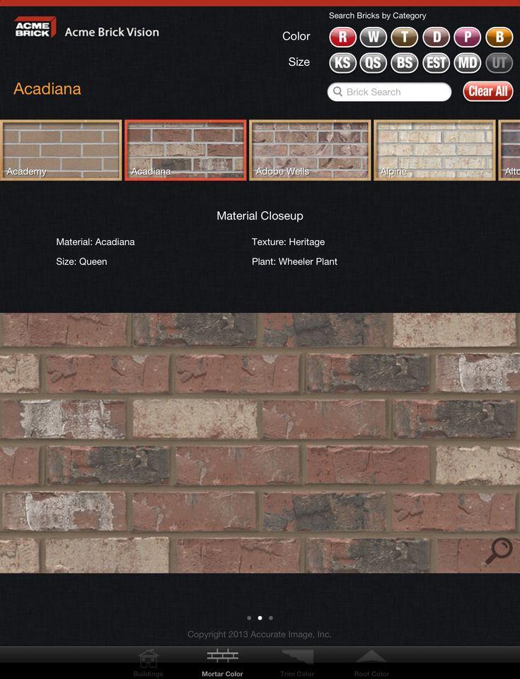 brick colors Acme Brick Company Debuts New Mobile App