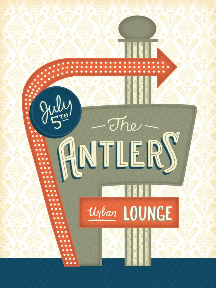 The Antlers - Gig poster // Courtney Blair