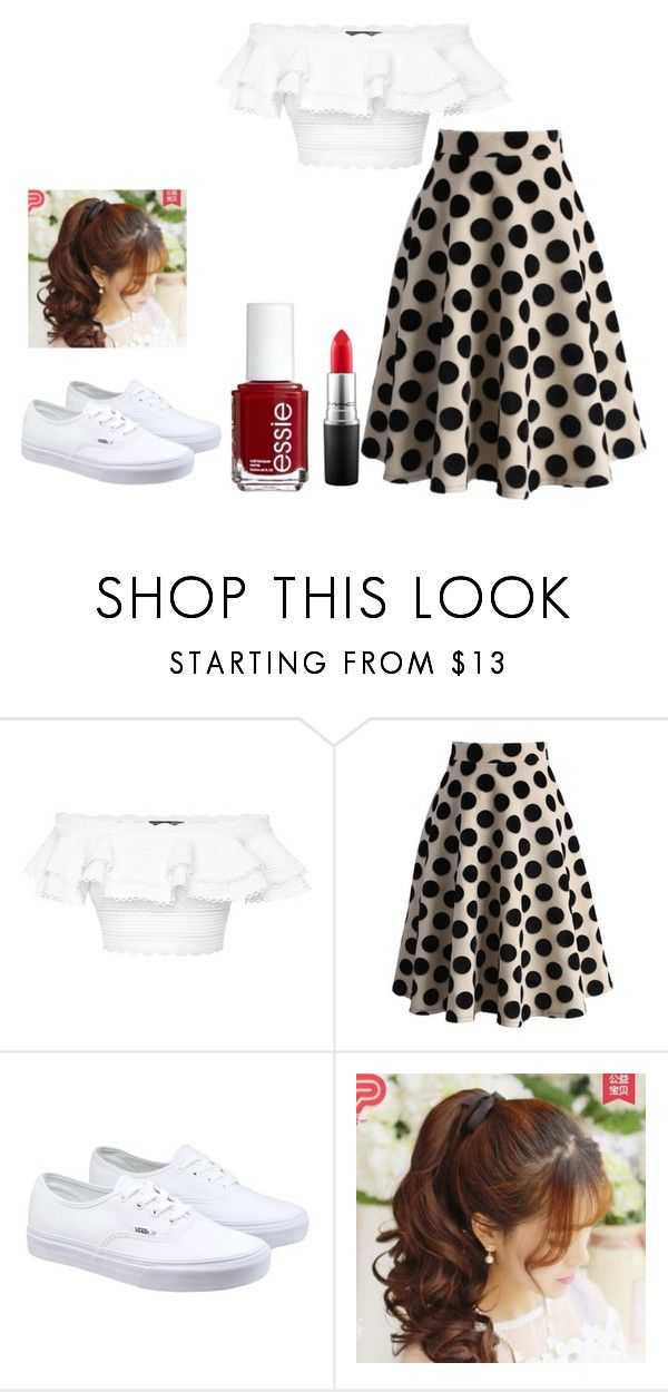 """""""Rock 'n' roll"""" by pipsqueak24 on Polyvore featuring Alexander McQueen, Chicwish, Vans, Pin Show, MAC Cosmetics, Essie, women's clothing, women's fashion, women and female"""