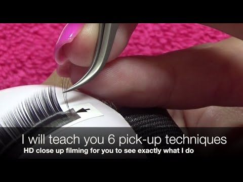 Volume Eyelash Extension Tutorial 101: 3D-6D Volume Lash Application - YouTube