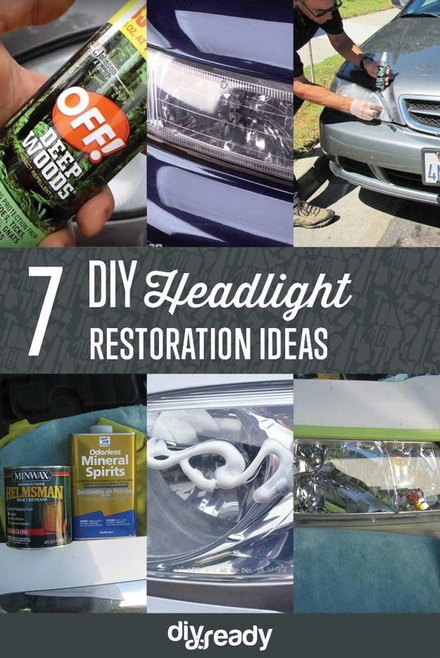 Check out 7 Headlight Restoration DIY Ideas at http://diyready.com/headlight-restoration-diy-ideas/