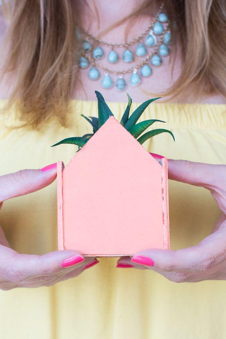 DIY Mini Pastel House Planters