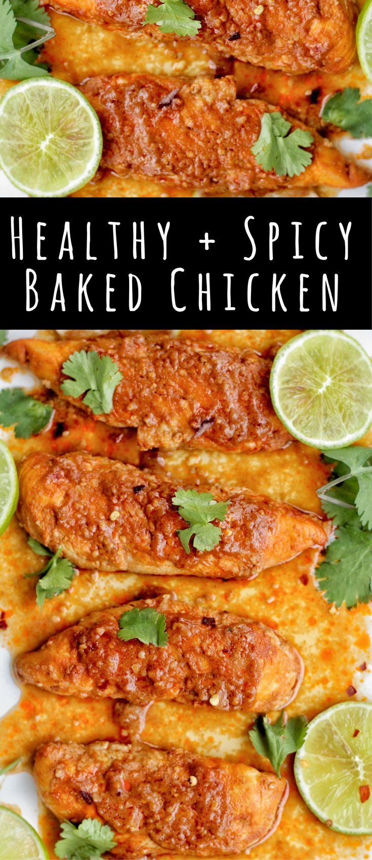 Spicy Baked Chicken – Healthy Firecracker Chicken