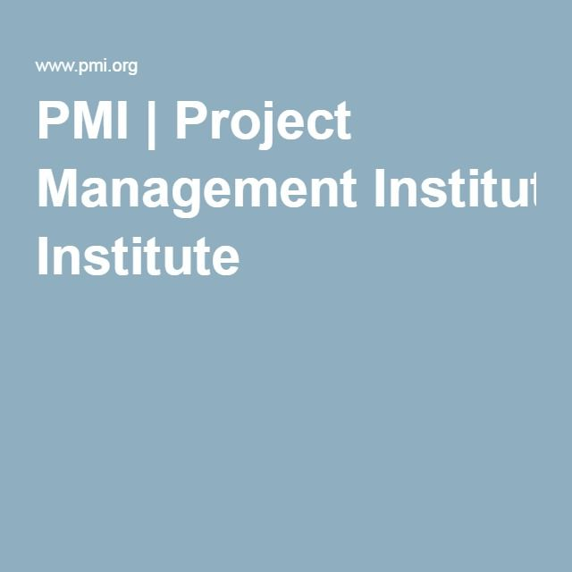 PMI | Project Management Institute