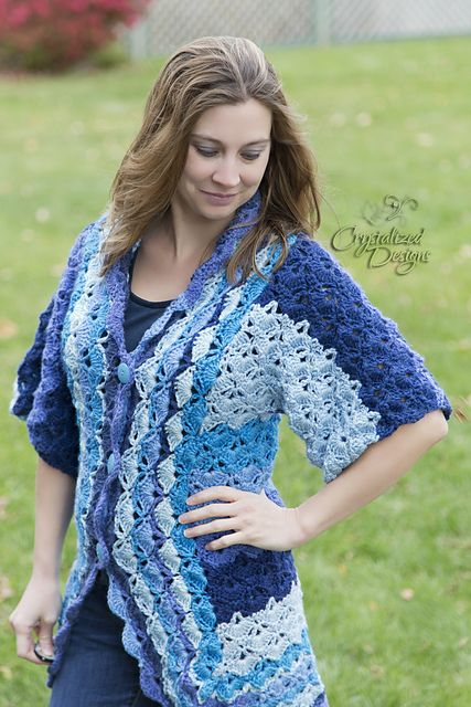 Ravelry: Tidal Wave Cardigan pattern by Crystalized Designs