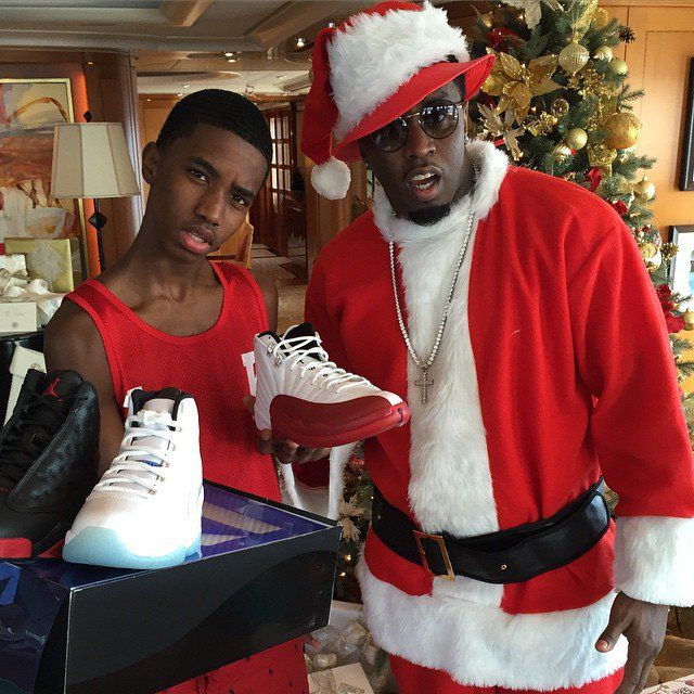 Pin for Later: Get Festive For the Holiday Season With the Cutest Celebrity Christmas Snaps of All Time!  Diddy really got into the Christmas spirit in 2014.