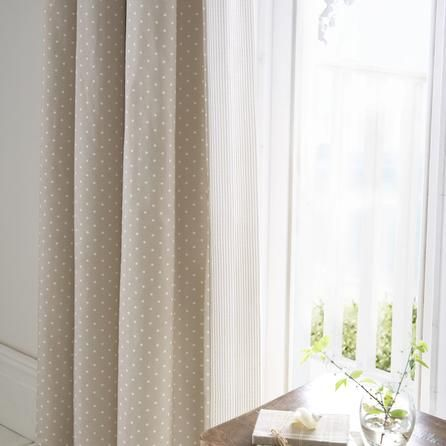 Dorma Mink Capri Collection Curtains Dunelm Natural