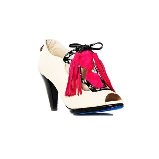 MON CHERIE AUD$150 Beige leather  Hot pink suede tassel  Metal stud embelishment   3.5 inch heel  Blue sole  Handmade   100% leather  *Free Shippinh AVAILABLE IN 3 - 5 WORKING DAYS