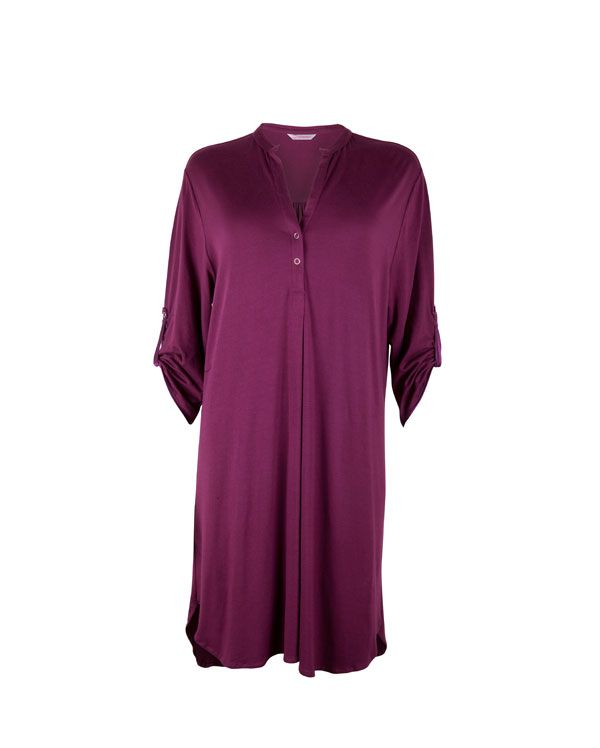 Alexandra Burgundy  Knitted Nightshirt