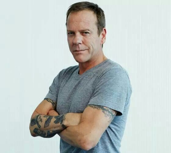 I'm not one for tattoos, but that Kiefer Sutherland...I