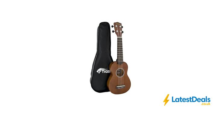 Tiger Music Natural Soprano Ukulele with Bag, £19.99 at Amazon UK