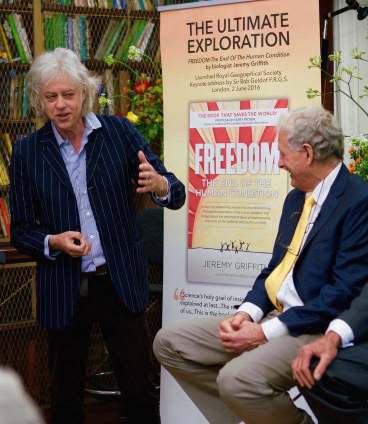 ‪#‎FREEDOM‬ LAUNCHES at the Royal Geographical Society in London! Key note address by Sir Bob ‪#‎Geldof‬ followed by ‪#‎JeremyGriffith‬ presenting…