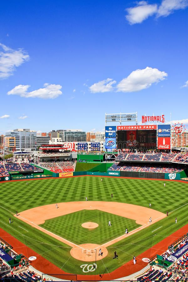 Baseball Day Game At Nationals Park A Portrait View Of Nationals Park Home O Affiliate Park Portrait View Nationals Park Baseball Park Baseball