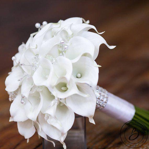 Цветов леди, свадебный букет каллы с ландышем